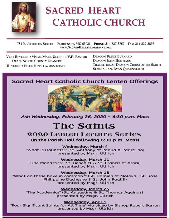 Sacred Heart Lent Series