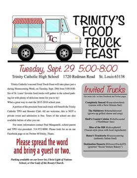 Food Trucks At Trinity Tuesday 9/29