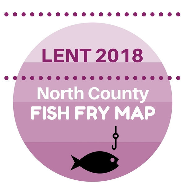 North County Fish Fry Map 2018