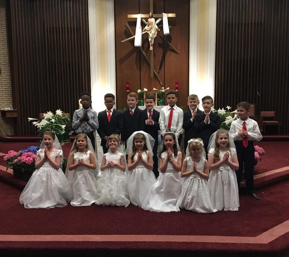 First Communion at St. Rose Philippine Duchesne