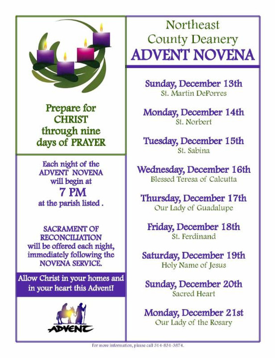 Advent Novena in NE Deanery