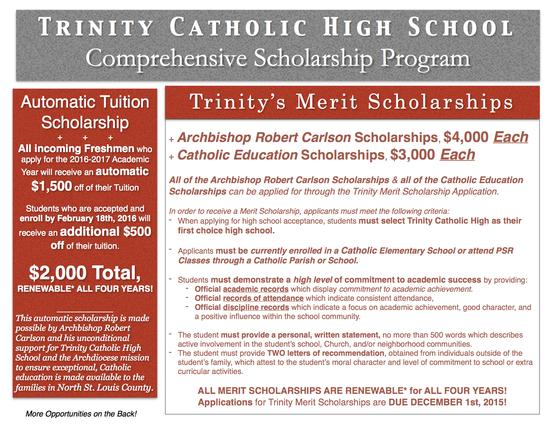 Trinity Scholarships