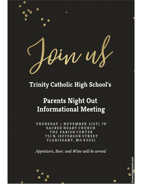 Trinity Parent Event at Sacred Heart
