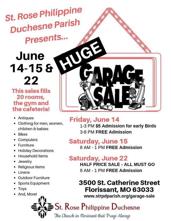 Garage Sale Flyer 2019