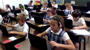 St. Ferdinand Classroom with Chromebooks